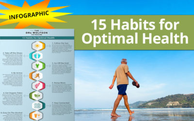 15 Habits for Optimal Health | Infographic by The Drs. Wolfson