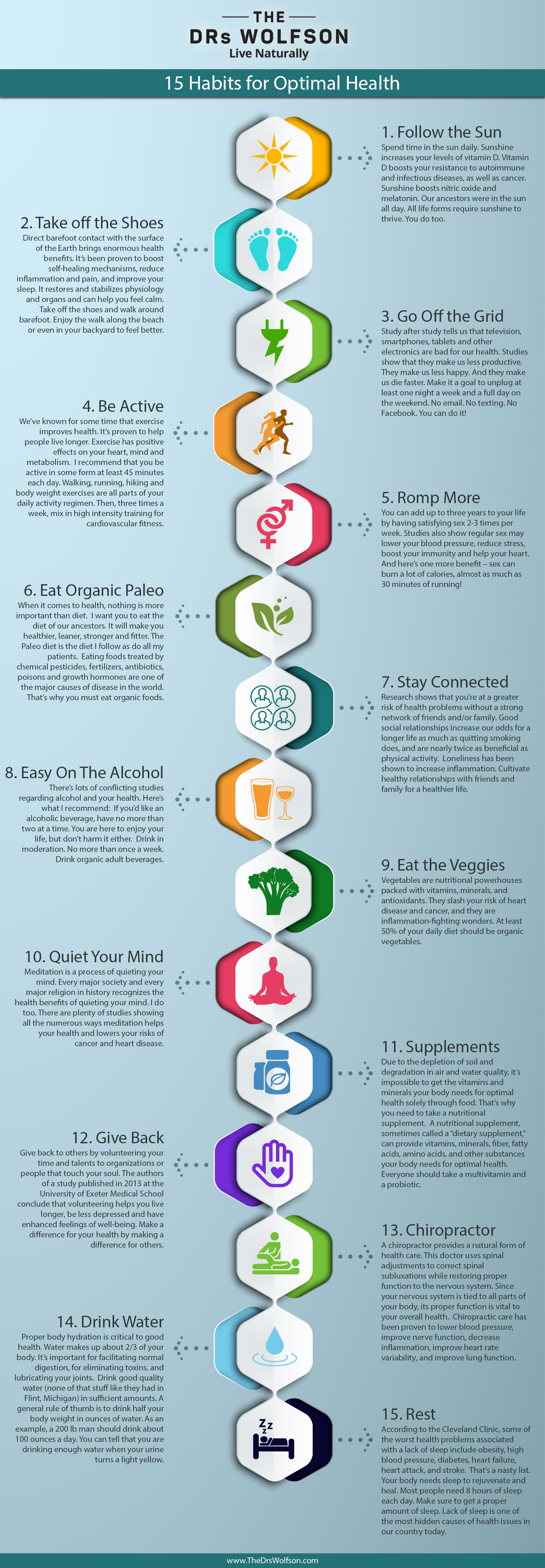 15 Habits for Optimal Health